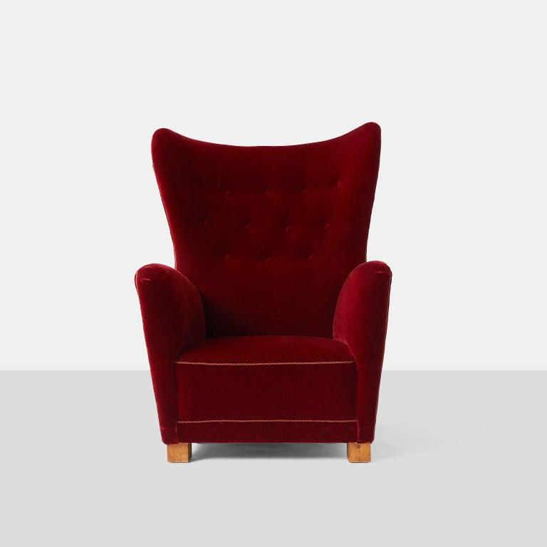 Scandinavian Modern Fritz Hansen Lounge Chair Model #1672 For Sale