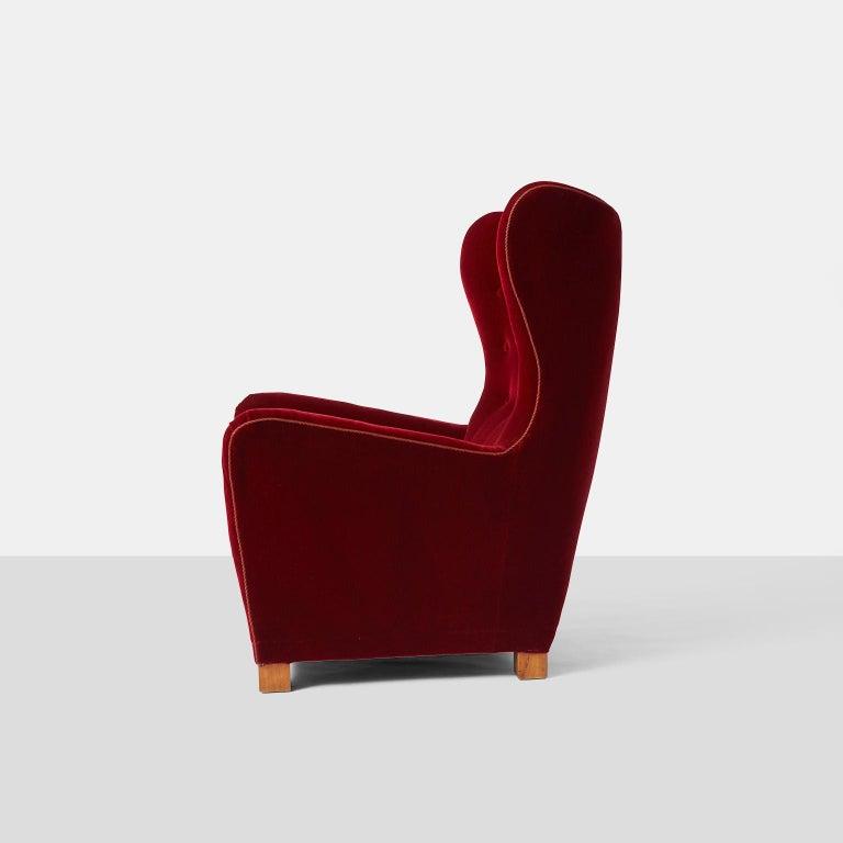 Danish Fritz Hansen Lounge Chair Model #1672 For Sale