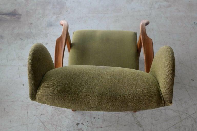 Fritz Hansen Model 1582 Wingback Lounge Chair Danish Midcentury For Sale 4