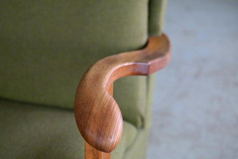 Fritz Hansen Model 1582 Wingback Lounge Chair Danish Midcentury For Sale 2