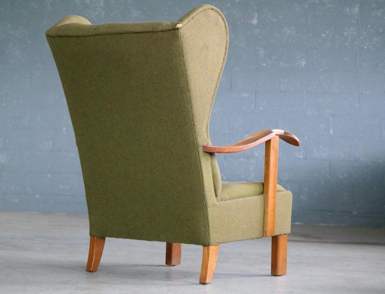 Fritz Hansen Model 1582 Wingback Lounge Chair Danish Midcentury For Sale 3
