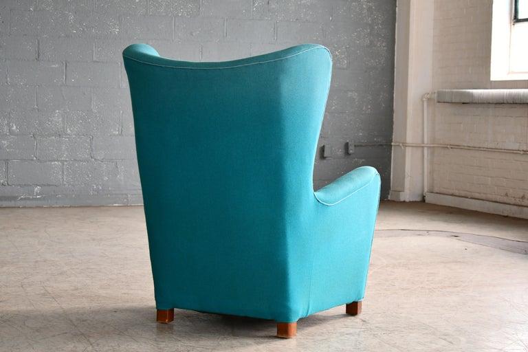 Fritz Hansen Model 1672 High Back Lounge Chair Danish Midcentury, 1940s 4