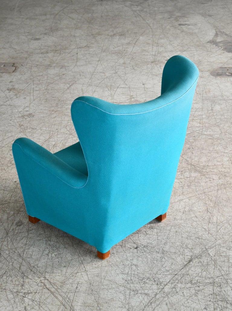 Fritz Hansen Model 1672 High Back Lounge Chair Danish Midcentury, 1940s 2