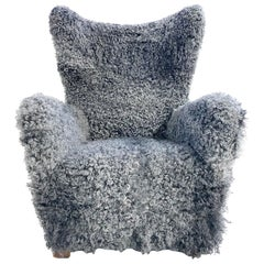 Fritz Hansen Model 1672 Lounge Chair, Restored in Gotland Sheepskin