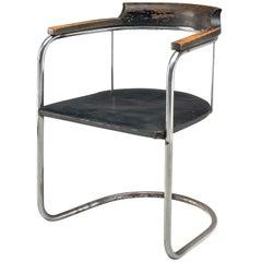 Fritz Hansen Patinated 'S125' Armchair, 1934
