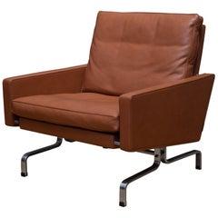 Fritz Hansen PK31 Leather Lounge Chair, circa 2017