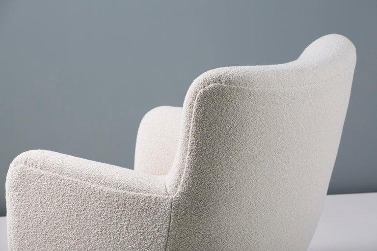 Fritz Hansen Style 1940s Boucle Armchair For Sale 2