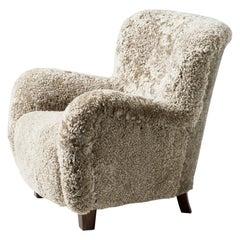 Fritz Hansen Style Low Lounge Chair, circa 1940s