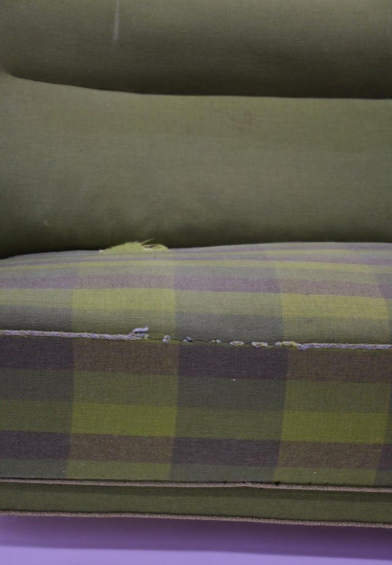Wool Fritz Hansen Three-Seat Sofa Green Model 1669a / 4468 For Sale