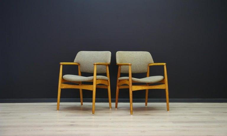 Fritz Hansen Vintage Armchairs Danish Design For Sale 1