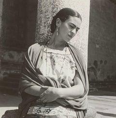 Frida Kahlo Outside the Church, Modern Photograph