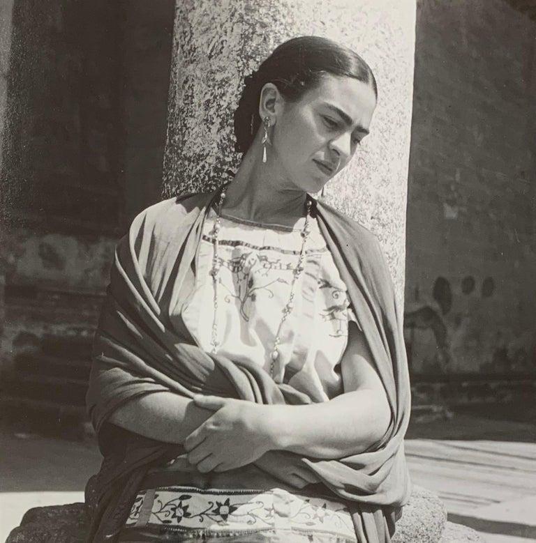 Fritz Henle Portrait Photograph - Frida Kahlo Outside the Church, Modern Photograph
