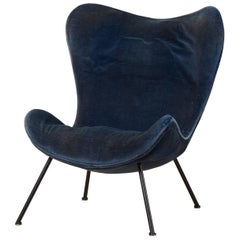 Fritz Neth 'Madame' Lounge Chair for Correcta, Germany, 1950s Upholstery needed