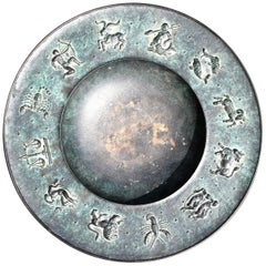 Fritz Nuss, Classical 'Zodiac' Low Bronze Bowl