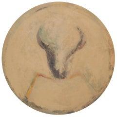 Fritz Scholder Painting, Worn Shield, 1976