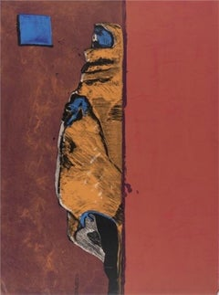 Indian in Blue Window, Limited Edition, Hand-Signed Lithograph