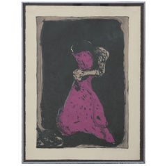 """""""Second Dream"""" Abstract Figurative Lithograph 11 of 79"""