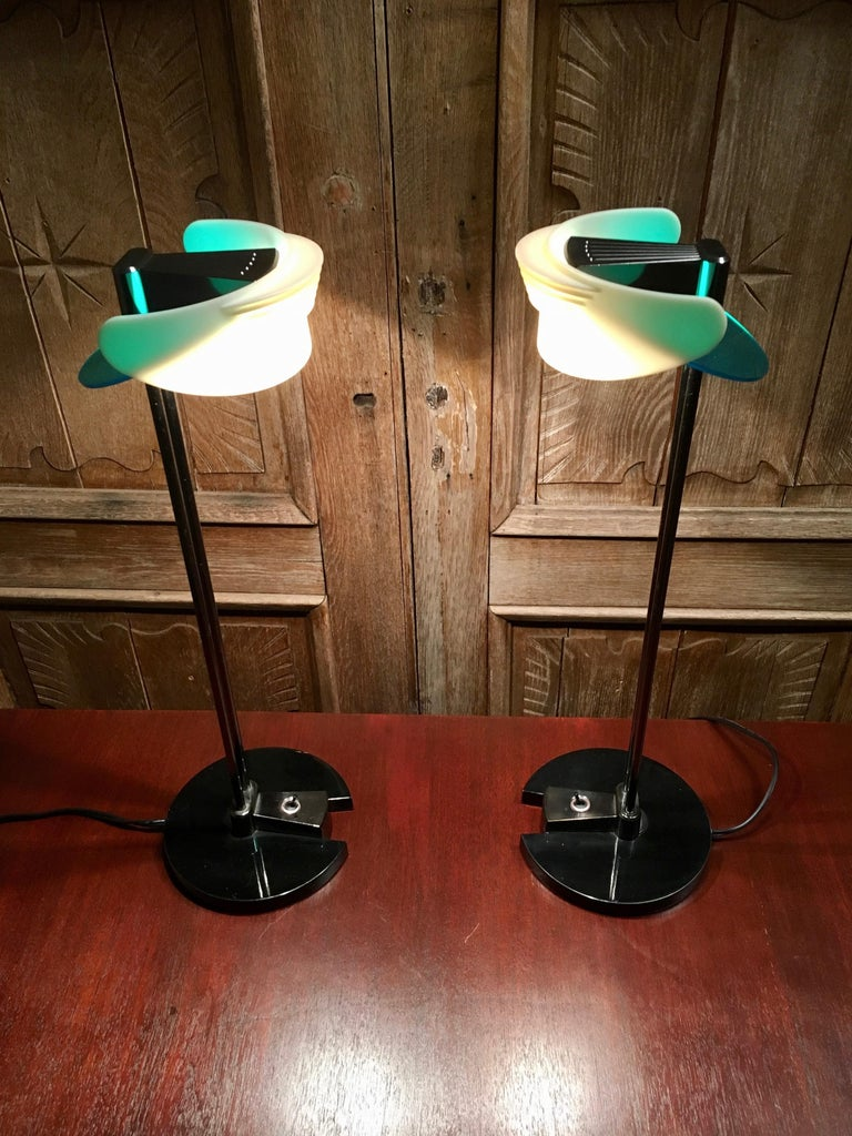 Post-Modern Fritz Table Lamps by Perry King & Santiago Miranda for Arteluce For Sale