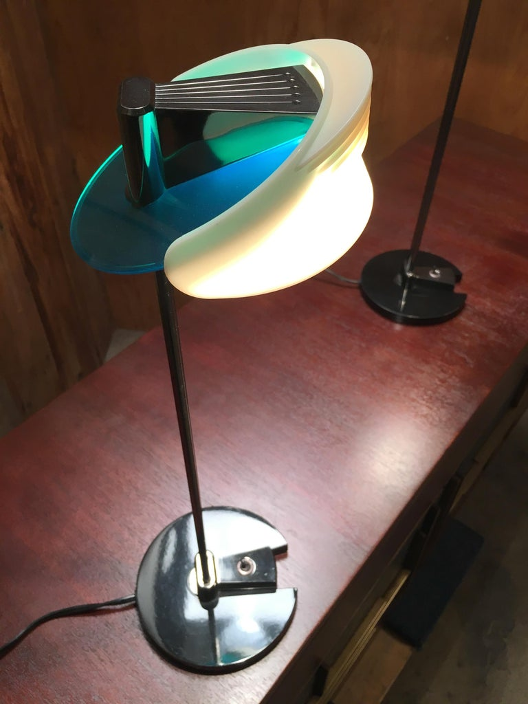 Fritz Table Lamps by Perry King & Santiago Miranda for Arteluce In Good Condition For Sale In Laguna Hills, CA