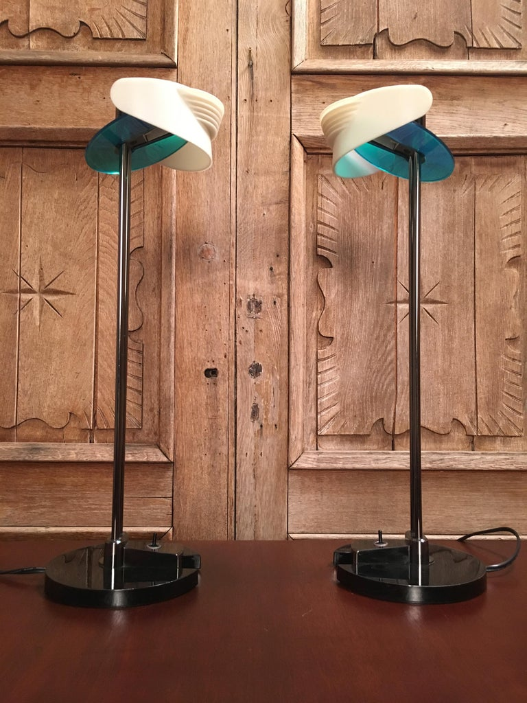 Late 20th Century Fritz Table Lamps by Perry King & Santiago Miranda for Arteluce For Sale