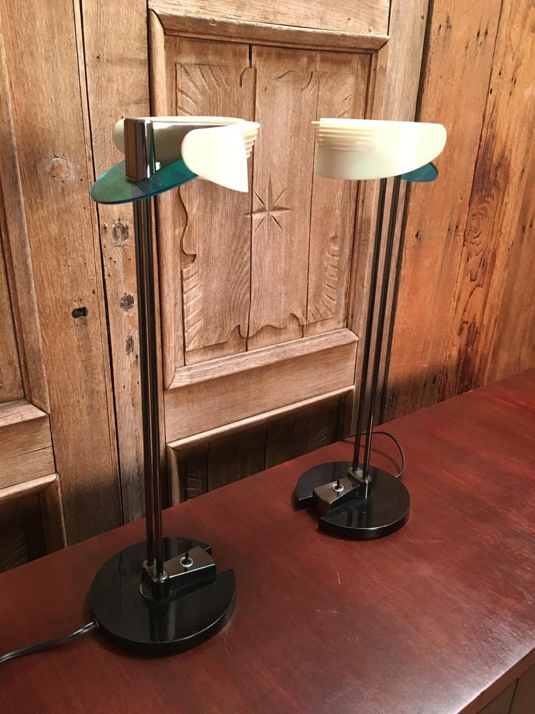 Acrylic Fritz Table Lamps by Perry King & Santiago Miranda for Arteluce For Sale