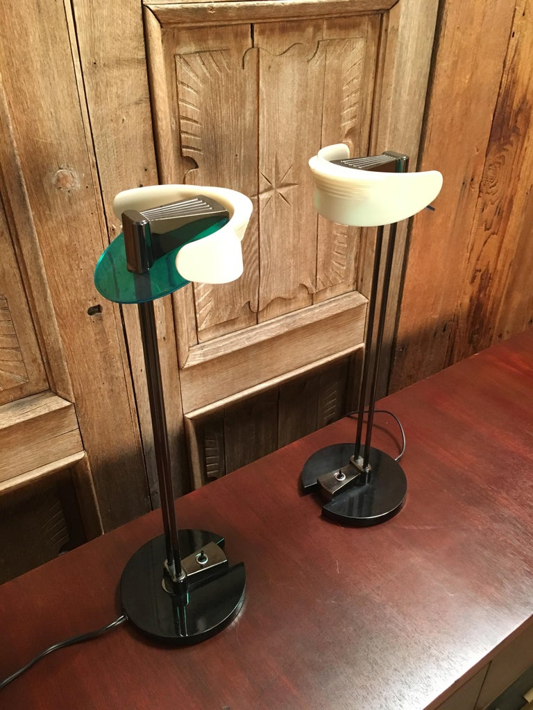 Fritz Table Lamps by Perry King & Santiago Miranda for Arteluce For Sale 1