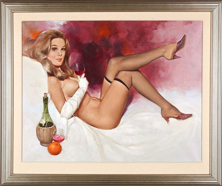Spill The Wine, 1971 - Painting by Fritz Willis