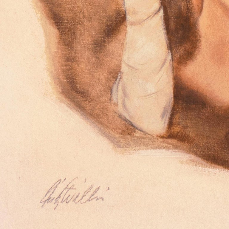 'Venus in Furs', American Pin-Up Illustration, Nude, Leopold von Sacher-Masoch - American Realist Painting by Fritz Willis