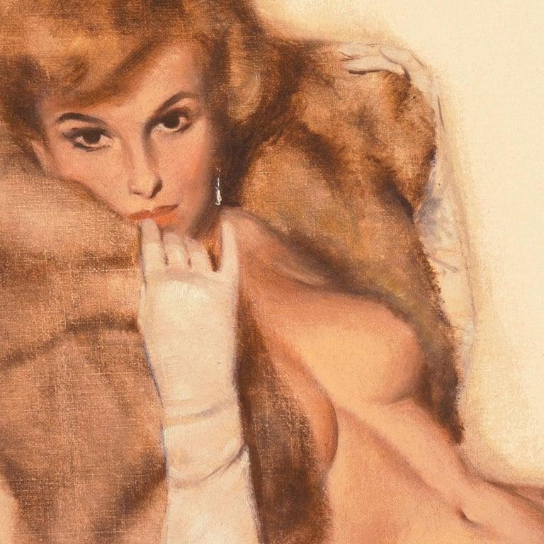 'Venus in Furs', American Pin-Up Illustration, Nude, Leopold von Sacher-Masoch For Sale 3