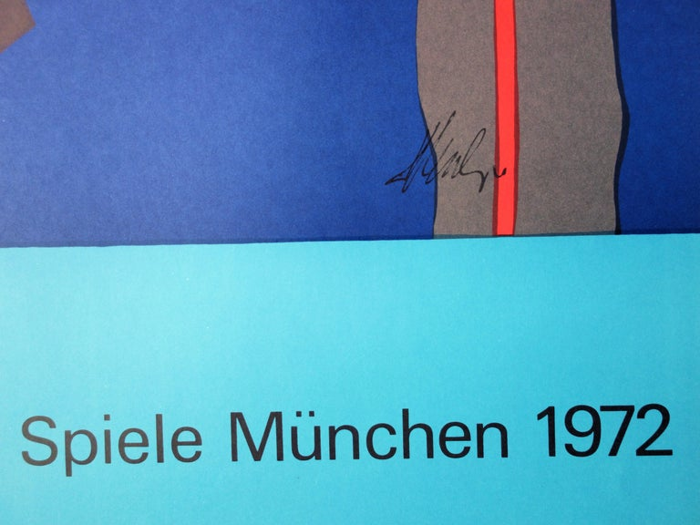 Abstract Composition - Lithograph (Olympic Games Munich 1972) - Print by Fritz Winter
