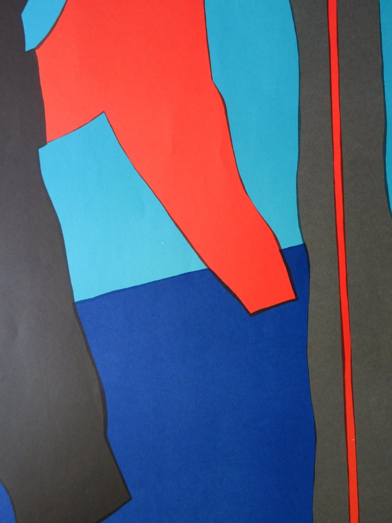 Abstract Composition - Lithograph (Olympic Games Munich 1972) For Sale 1
