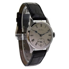 Frodsham Denisteel Original Dial Manual Wind Wristwatch , circa 1930s
