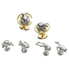 Frog Dress Set in Platinum and Gold