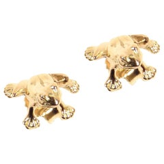 Frogs Rose Gold Earrings Handcrafted in Italy by Botta Gioielli