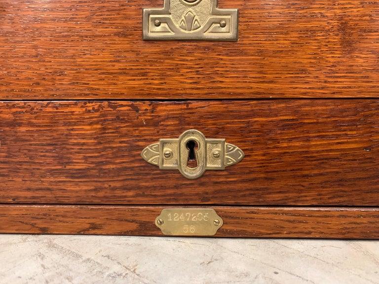 Bronze From 1910 wooden National cash register For Sale