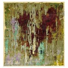 from Alexandra with Love, Modern Rug Hand Knotted Abstract Design Wool and Silk