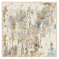 from Alexandra with Love, Modern Rug Hand Knotted Erased Design Wool and Silk