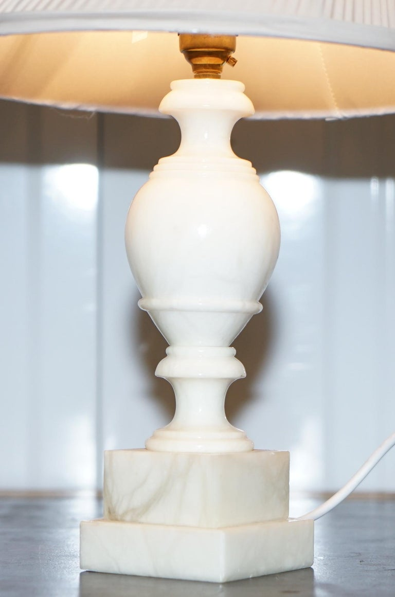 Art Deco From Duke Ss Northumberland S Estate Solid White Marble Table Lamp