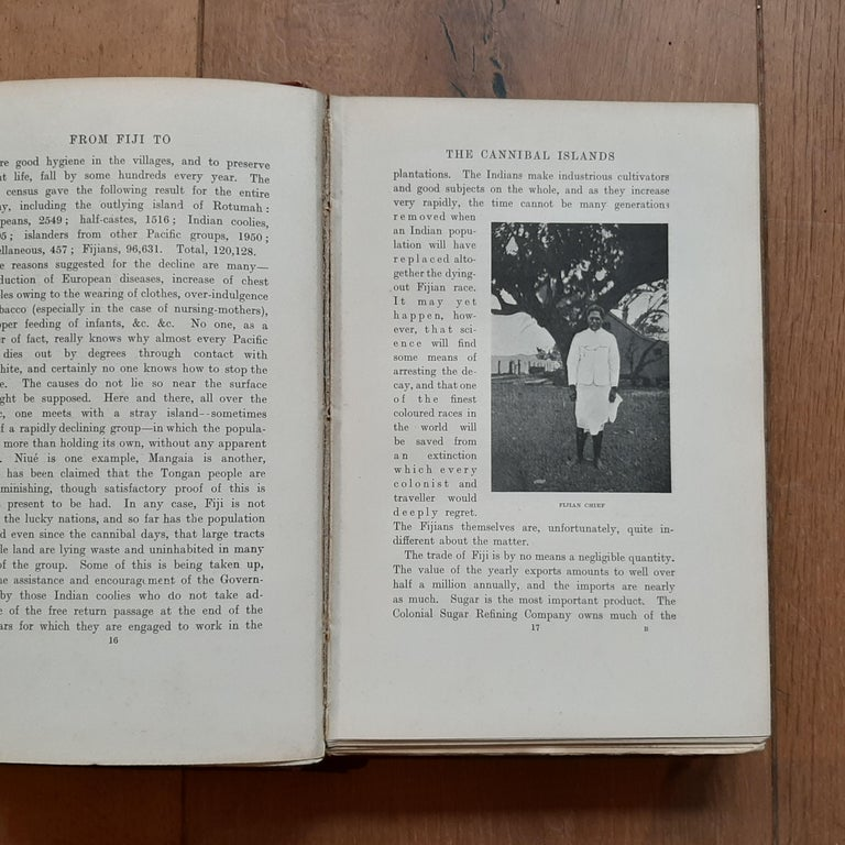 From Fiji to the Cannibal Islands by B. Grinshaw (1907) In Fair Condition For Sale In Langweer, NL