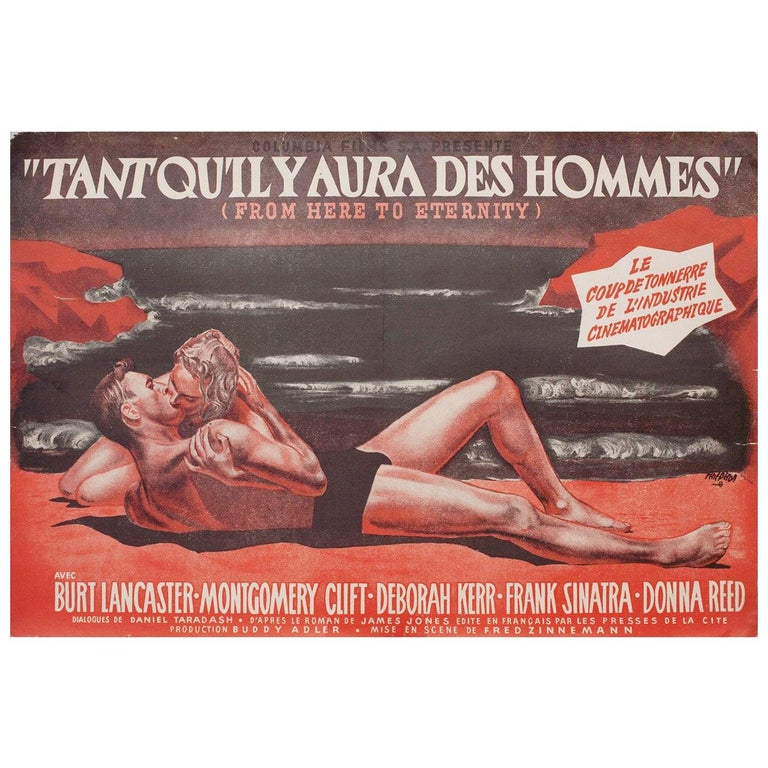From Here to Eternity 1953 French Mini Film Poster For Sale