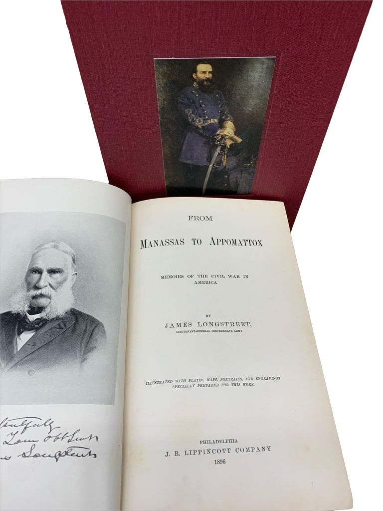 Paper From Manassas to Appomattox, by James Longstreet, First Edition, Signed For Sale