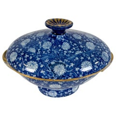 From the Collection of Mario Buatta a Blue and White Small Tureen