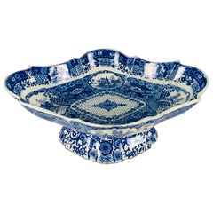 From the Collection of Mario Buatta a Blue and White Staffordshire Fruit Stand