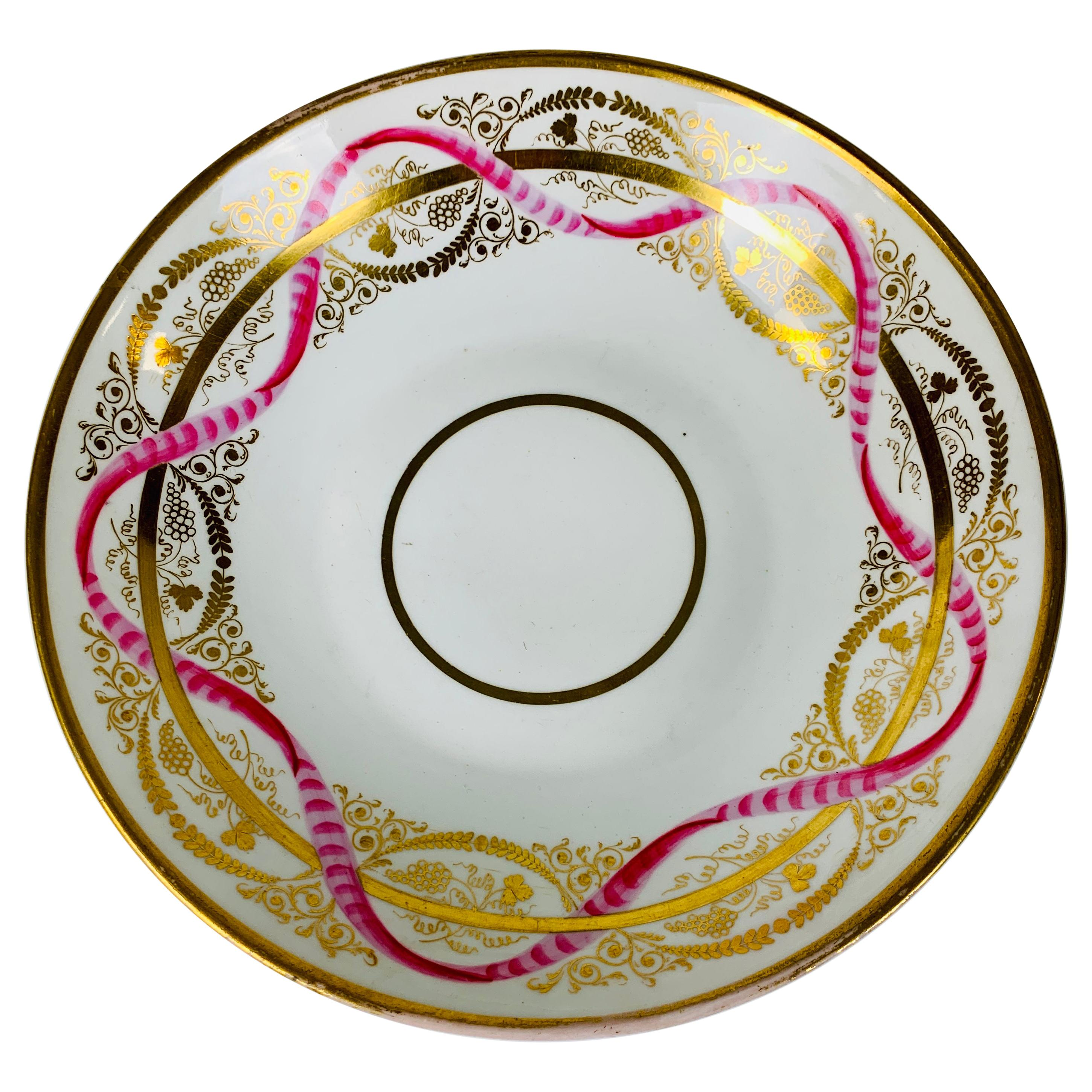 From the Collection of Mario Buatta a Davenport Porcelain Dish, England c-1820