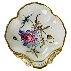 From the Collection of Mario Buatta a Hand Painted Anemone on Derby Porcelain