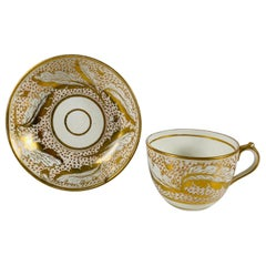 from the Collection of Mario Buatta a Miles Mason Porcelain Cup and Saucer