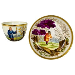 From The Collection of Mario Buatta A Minton Chinoiserie Cup and Saucer