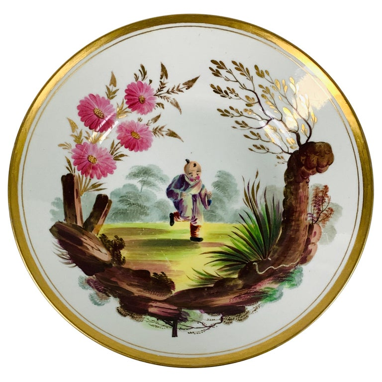 From the Collection of Mario Buatta a Minton Chinoiserie Dish For Sale