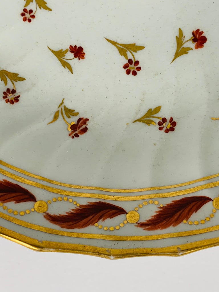 Hand-Painted From the Collection of Mario Buatta a Neoclassical Saucer Dish England For Sale