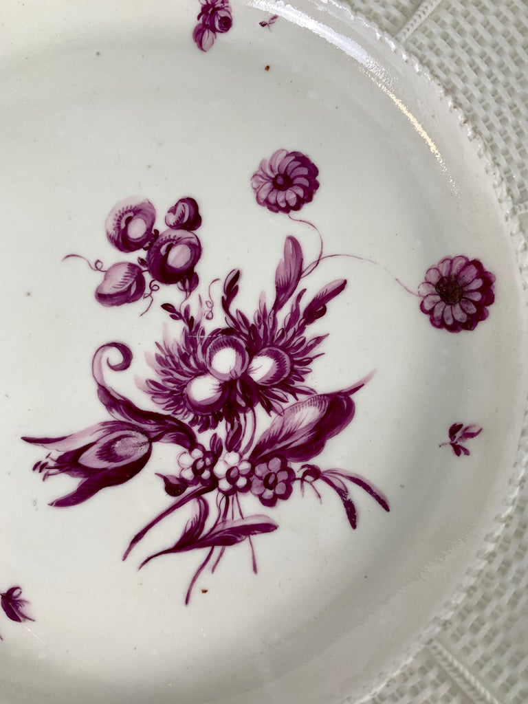 Romantic From the Collection of Mario Buatta a Pair of 18th Century Ludwigsburg Dishes For Sale